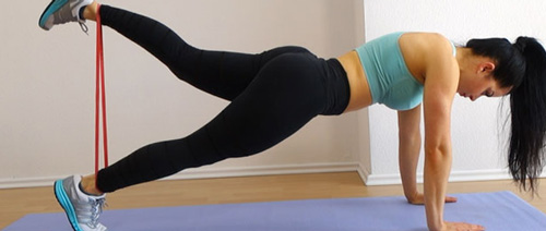 a woman exercising her butt