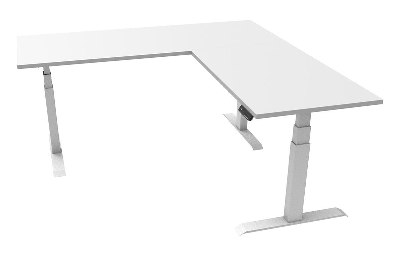L Shape Electric Corner Sit Stand Desks Zen Space Desks