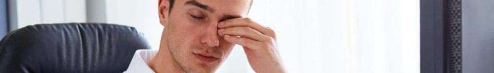 Employee Suffering from Eye Strain