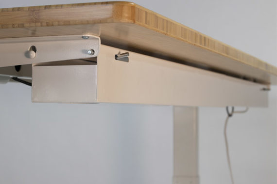 Zen Space Desks Cable Management Channel folds closed