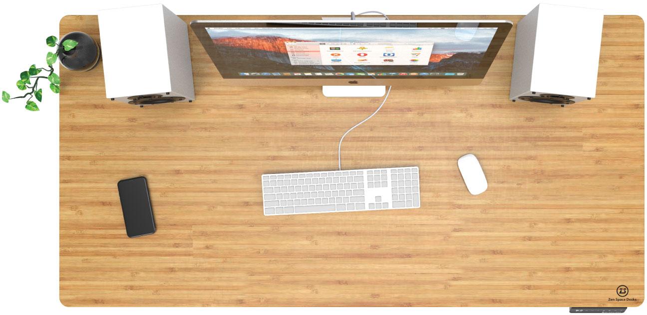 Zen Bamboo Sit Stand Desk