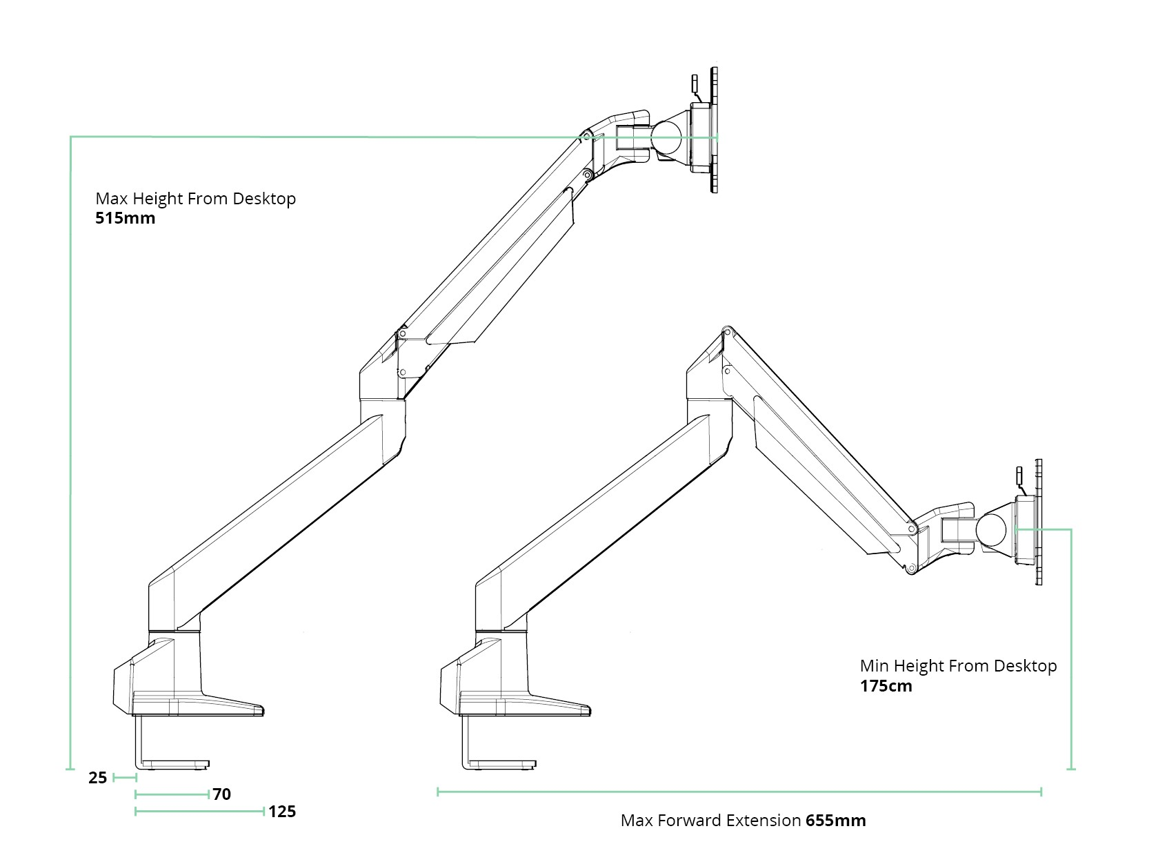 SINGLE-MONITOR-ARM-spec